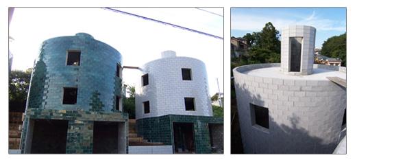 自由な発想とブリックスの特徴を活かした、円形住宅。